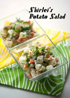 My Brazilian friend Shirlei is a fantastic cook, and we have hosted many a gathering together. Whenever she made this potato salad I loved it so much, I prayed there would be leftovers. It might seem like an odd combination of things, but it totally works, and is almost a meal in itself. The parsley is essential for the proper flavor, as is regular mayonnaise. To simplify things when cooking, I use the same liquid to cook all the vegetables.