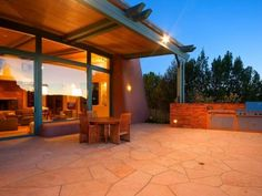 Outdoor living space and villa
