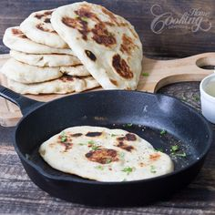 Naan bread - made on iron cast skillet - simply delicious. Eat right, Detox right with NuLeaf Tea Www.nuleafteaco.com