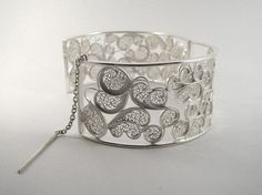 Large Cuff Bracelet in Silver Filigree by SusanaTeixeiraJewels