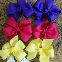ribbon hair bow tutorial