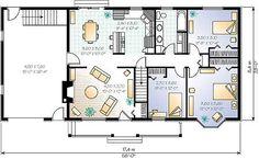 Eso es el plano de nuestra casa. Hay 6 habitaciónes y el recibidor. En la planta inferior se entra al recibidor y después encontramos la cocina y a mano derecha el salón. Subiendo a la primera planta encontramos los 3 dormitorios y el cuarto de baño.