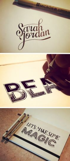 some hand lettering by seanwes
