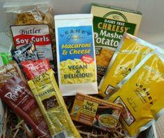 College Student Survival Gift Basket #vegan