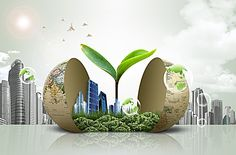 Creative Earth building city estate background material