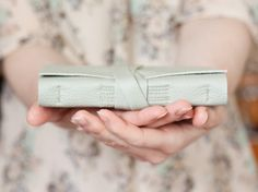 Leather Journal - Pastel Mint - Handbound Leather Book - 6 x 4 - Pale Green on Etsy, 184,21kr