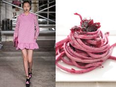 Moschino Cheap & Chic fw 2013-14 / Beetroot linguine with butter and sage