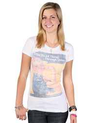 I can do all things through Christ Tee FashionTops