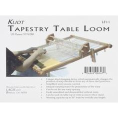 Kliot Tapestry Loom 20 inches Hard Wood - Overstock™ Shopping - Big Discounts on Lacis Other Knit & Crochet Supplies
