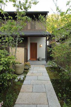 35 Fascinating Japanese Garden Design Ideas - Page 14 of 35 - Gardenholic Japanese Home Design, Japanese Style House, Japanese Modern, Architecture Design, Japanese Architecture, Exterior Design, Interior And Exterior, Backyard, Patio
