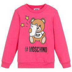 1781f4497 Moschino Kid-Teen - Girls Pink Cotton Sweatshirt | Childrensalon Moschino  Bear, Asian Kids