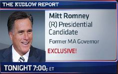 CNBC EXCLUSIVE: GOP Presidential candidate Mitt Romney one-on-one with Larry Kudlow tonight on The Kudlow Report at 7p ET.    Want a sneak peek? WATCH HERE: http://cnb.cx/I09hjn