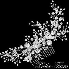 Crystal wedding comb bridal crystal hair comb bridal hair | Etsy Bridal Side Hair, Bridal Comb, Wedding Hair, Crystal Wedding, Bridal Hair Accessories, Handmade Wedding, Hair Comb, Hair Jewelry, Bridal Jewelry