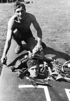 Battle damage from flak to a Stuka
