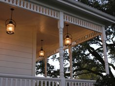 Farmhouse porch lighting
