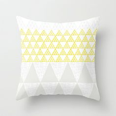 Triangles+Throw+Pillow+by+Cecilia+Andersson+-+$20.00