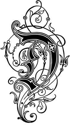 Floral Capital Letters