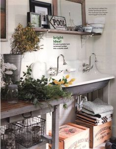 Perfect sink for a greenhouse or garage