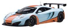 F/S AUTOart MCLAREN MP4-12C GT3 BLUE/ORANGE PAINT SCHEME 1/18 Scale Model Car #AUTOart #MCLAREN