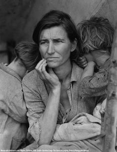 """""""Migrant Mother"""" by Dorothea Lange- images from the dust bowl"""