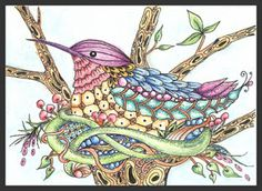 Broody Fairy Tangles By Norma J Burnell