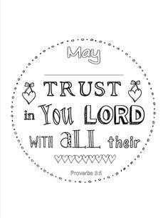 Proverbs 3:5 Personalized Scripture coloring page