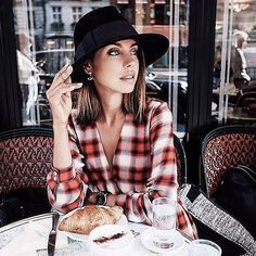 14 of the Prettiest Looks With a Plaid Shirt: Having a plaid shirt is like owning a pair of jeans; you can't have just one, and no two plaid shirts are alike.