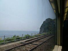 Treno, Manarola→Monterosso al Mare, Liguria Italia (Luglio)