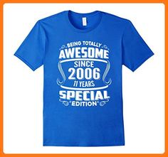 c034f7cde Mens Awesome Since 2006 Tshirt 11th Birthday 11 yr olds Tee Shirt 3XL Royal  Blue (