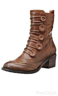 online store 73785 7e1f5 Miz Mooz Megan Leather Bootie Zapatillas De Deporte Con Cuña, Zapatillas  Deportivas, Botines De