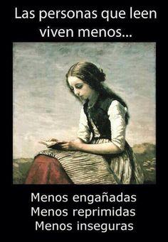 Las personas que leen, viven menos...
