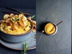 Herbed Polenta with Parsnip Chips and Maple Butter – and a feast!