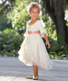 fairy-tale chiffon girls dress
