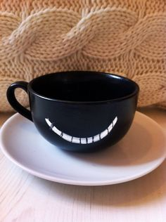 Cheshire Cat Alice in Wonderland Teacup & by EnglishFairytale, £15.00