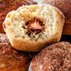 Nutella Stuffed Snickerdoodle Muffins