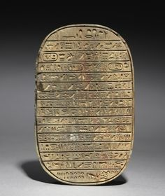 Wild Bull Hunt Scarab of Amenhotep III, c. 1391-1353 BC                                                Egypt, New Kingdom, Dynasty 18, reign of Amenhotep III
