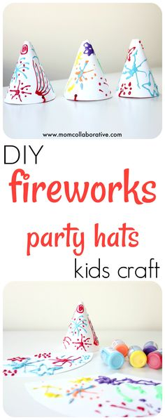 4th of July fireworks party hat craft for kids!