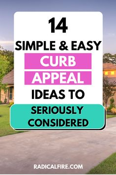 With the surge in home prices and the low supply of homes across the country, it is safe to say that you can ask top dollar for your home if you're considering a sale. In this article, you will learn 14 simple and easy curb appeal ideals to seriously considered. Self Development, Personal Development, Landscaping Tools, Dividend Investing, Lawn Service, Creating Wealth, Finance Organization, Financial Peace, Meaningful Life