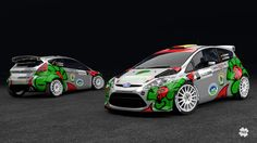 Design and wrap of Ford Fiesta RRC.