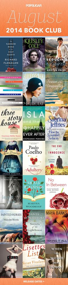 21 August Books We're Dying to Read