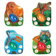 Plastilina saltarina con bola luminosa – Dino World Play Dough, Balls