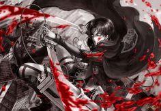 Levi Rivaille Blade Blood Stain 3D Maneuver Gear Cape Attack on Titan Shingeki no Kyojin Anime HD Wallpaper Desktop PC Background 2123