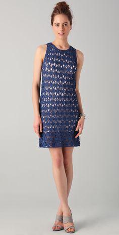 Crochetemoda: Vestido Azul de Crochet