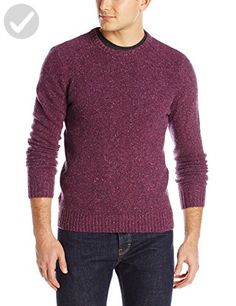 Original Penguin Men's Long Sleeve Donegal Jersey C, Tillandsia Purple, Small - Mens world (*Amazon Partner-Link)