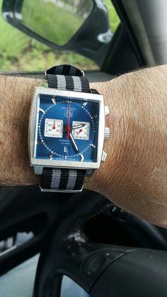 Tag Heuer Mônaco Cronograph Steve McQueen Nato Strap