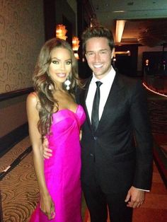Crystle and her boyfriend Max hosting The 2012 Miss Texas Pageant