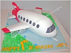 Jet Plane Birthday Cake, Qantas Plane Cake, First Birthday Cake, Children Birthday Cakes, 1st Birthday Cakes Sydney Australia, Kid Birthday Cakes