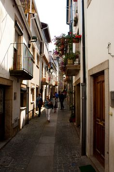 Street in Monção, PORTUGAL.   (by F. Dans, via Flickr)