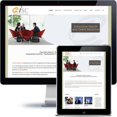 ISC Recruitment Company website built with Wordpress using responsive web design.