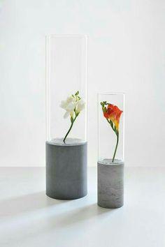 Concrete Furniture, Cement Art, Concrete Cement, Concrete Design, Concrete Planters, Concrete Crafts, Concrete Projects, Cylinder Vase, Tall Vases